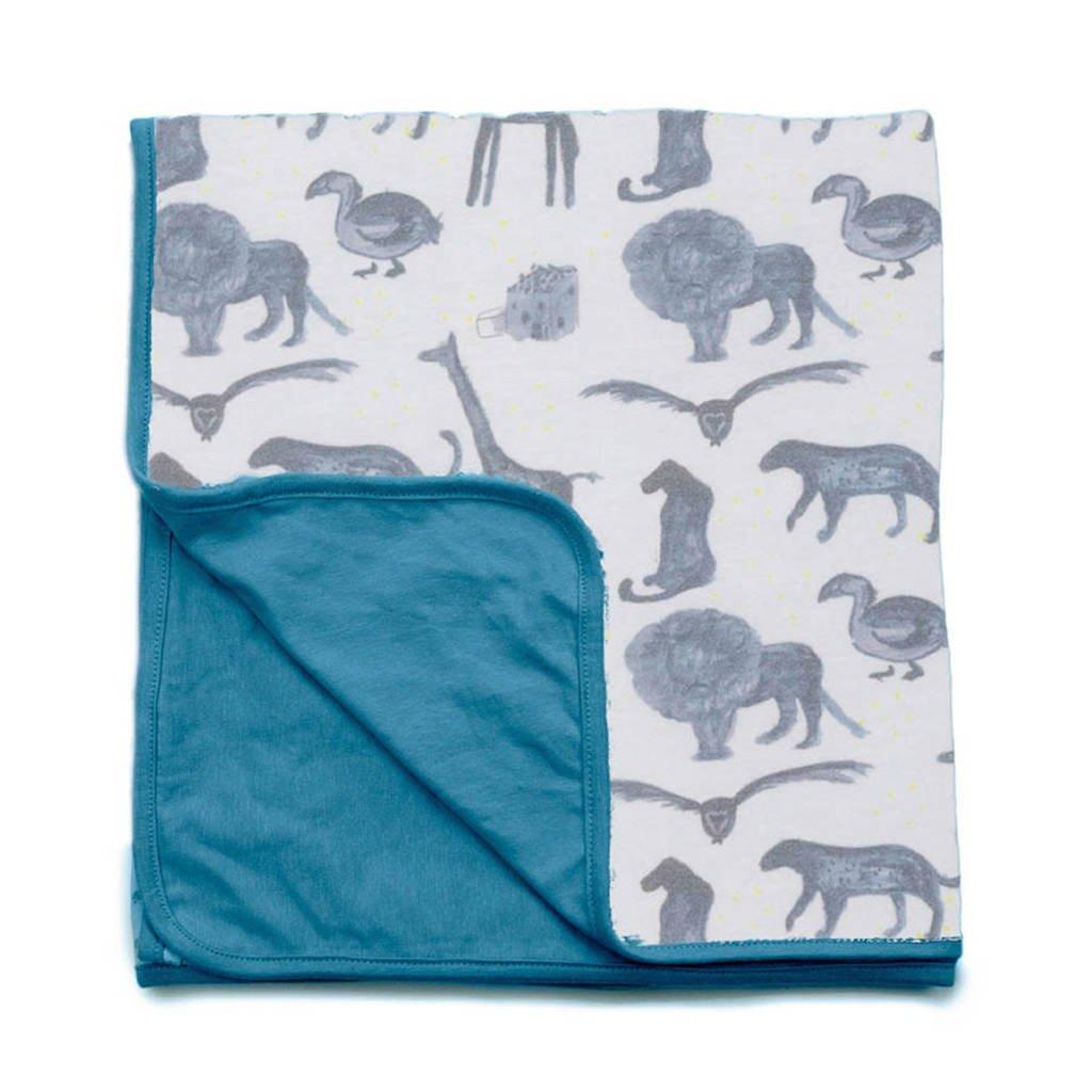 Snoozebaby baby wiegdeken zomer 75x100 cm storm blue, Storm Blue
