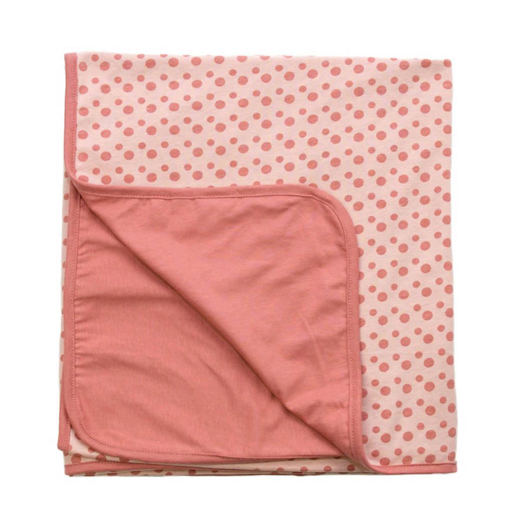 Snoozebaby baby wiegdeken zomer 75x100 cm roze, Roze