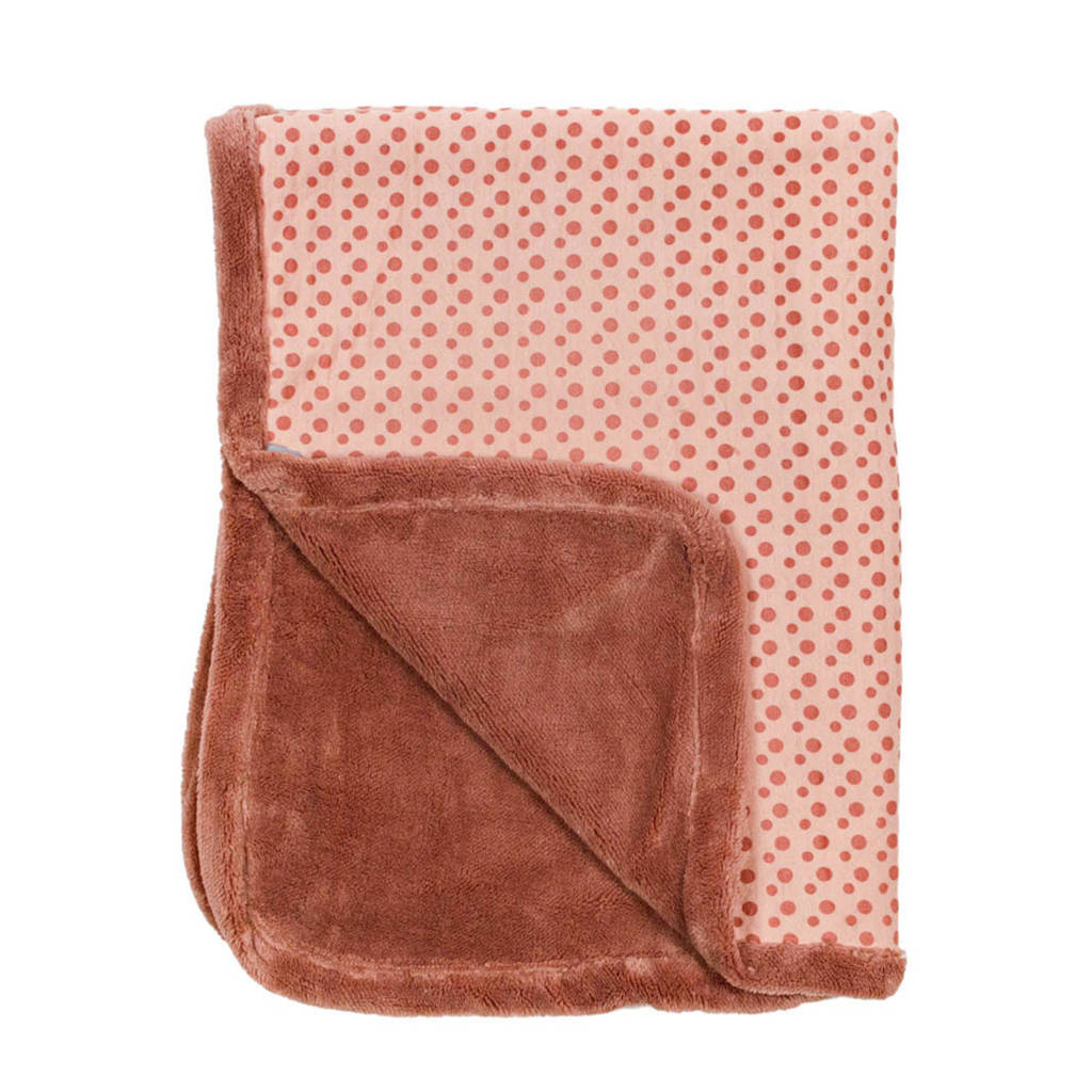 Snoozebaby ledikantdeken winter 100x150 cm dusty rose, Dusty Rose