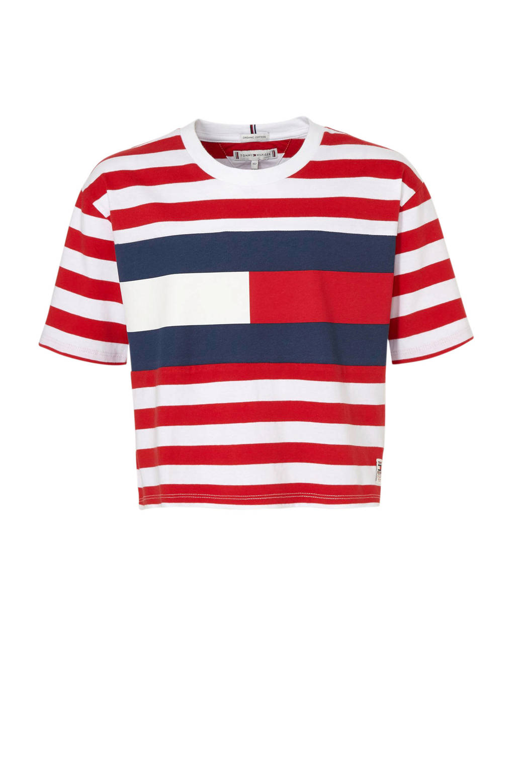 Tommy Hilfiger gestreept T-shirt wit/rood/donkerblauw