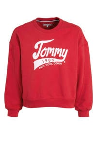 Tommy Hilfiger sweater met logo rood, Rood
