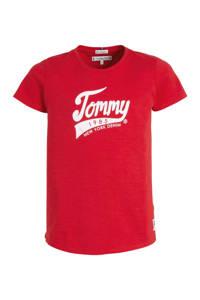 Tommy Hilfiger T-shirt met logo rood, Rood
