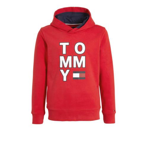 Tommy Hilfiger hoodie met logo rood