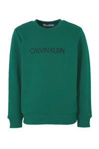 CALVIN KLEIN JEANS sweater met logo groen, Groen