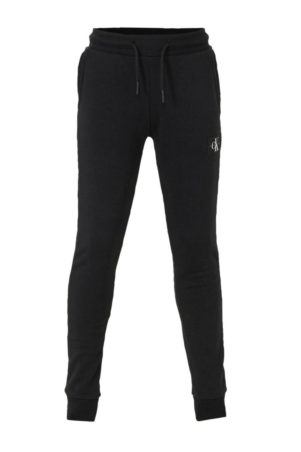 CALVIN KLEIN JEANS   joggingbroek met logo zwart, Zwart