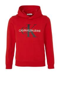 CALVIN KLEIN JEANS hoodie met logo rood, Rood