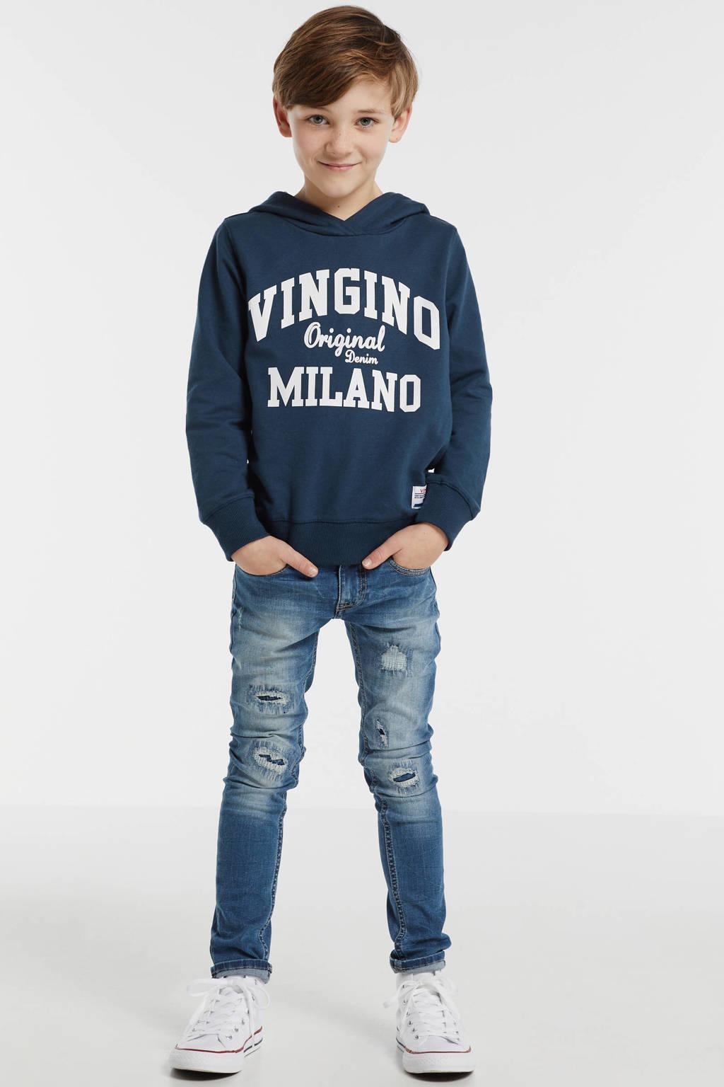 Vingino hoodie Mumfry met logo donkerblauw, Donkerblauw