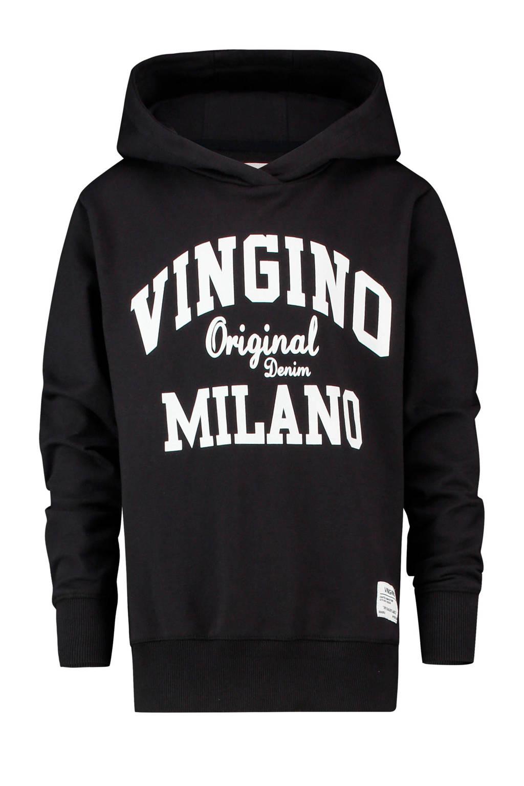 Vingino hoodie Mumfry met logo zwart, Zwart