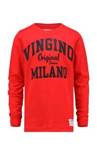 Vingino longsleeve Jerny met logo felrood, Felrood