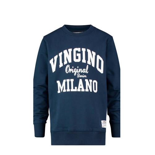 Vingino sweater Namry met logo donkerblauw