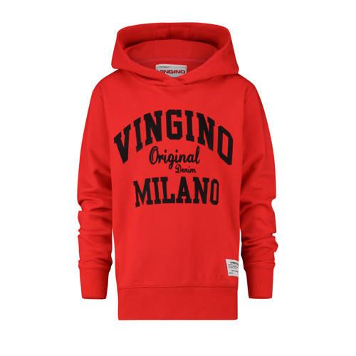 Vingino hoodie Mumfry met logo felrood