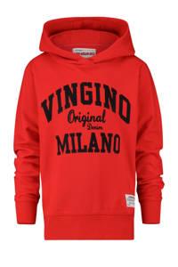 Vingino hoodie Mumfry met logo felrood, Felrood