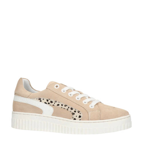 Manfield su??de sneakers beige/cheetahprint