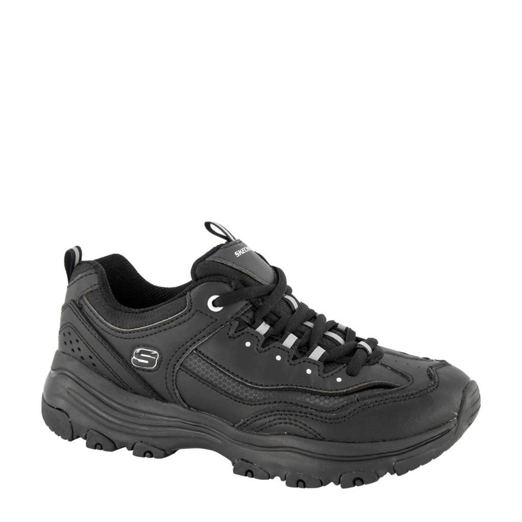 Skechers   sneakers zwart, Zwart/zilver