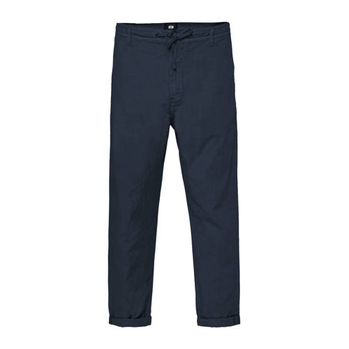 WE Fashion loose fit chino royal navy