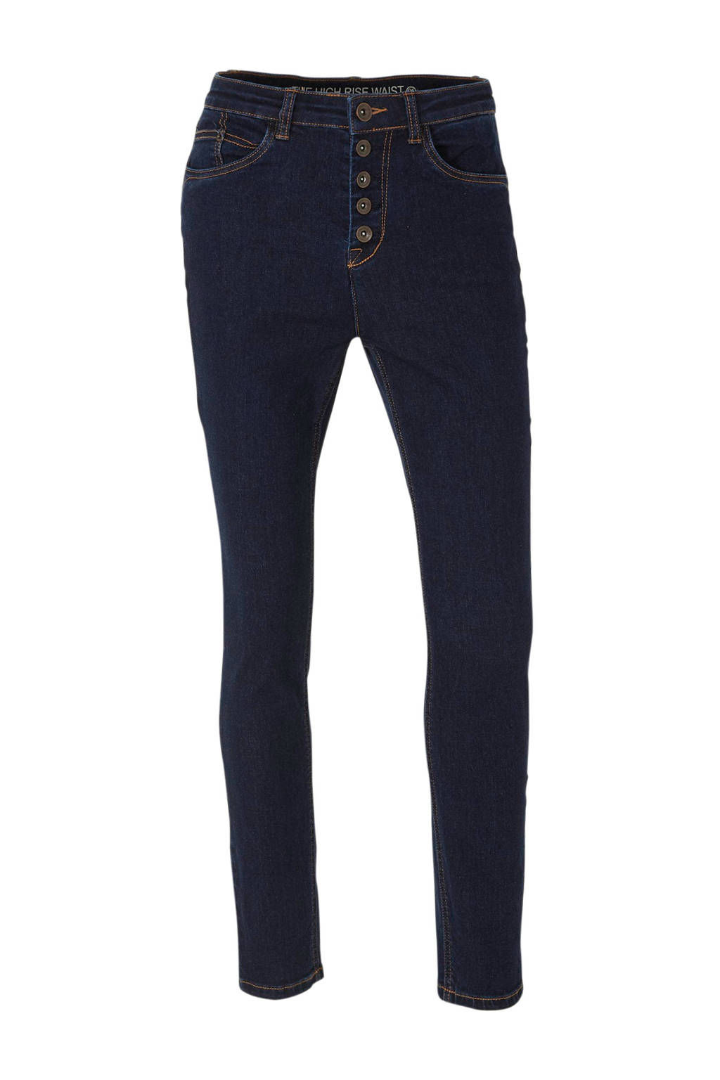C&A Yessica high waist skinny jeans donkerblauw, Donkerblauw