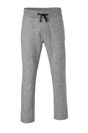 gemêleerde regular fit joggingbroek grijs melange/zwart