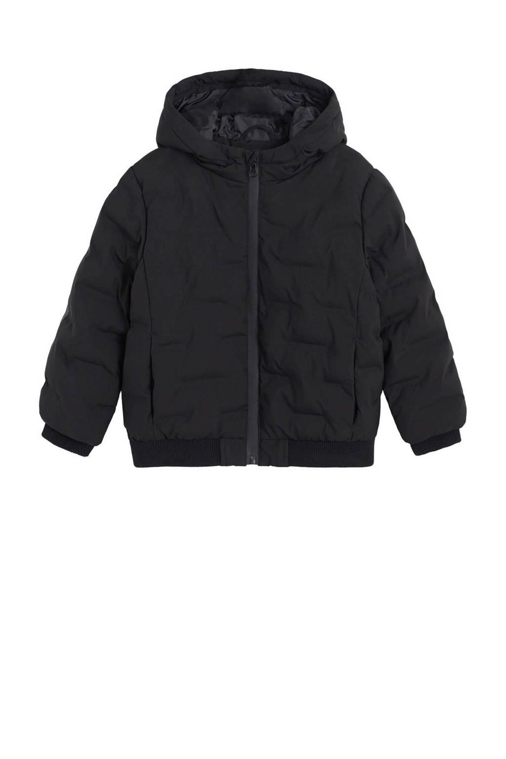 Mango Kids winterjas zwart, Zwart