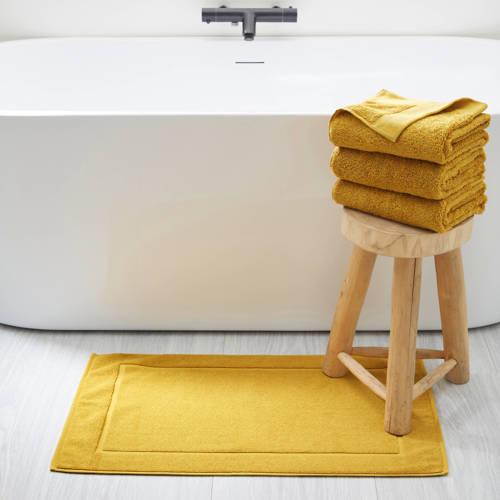 whkmp's own badmat (50x80 cm) Donker okergeel