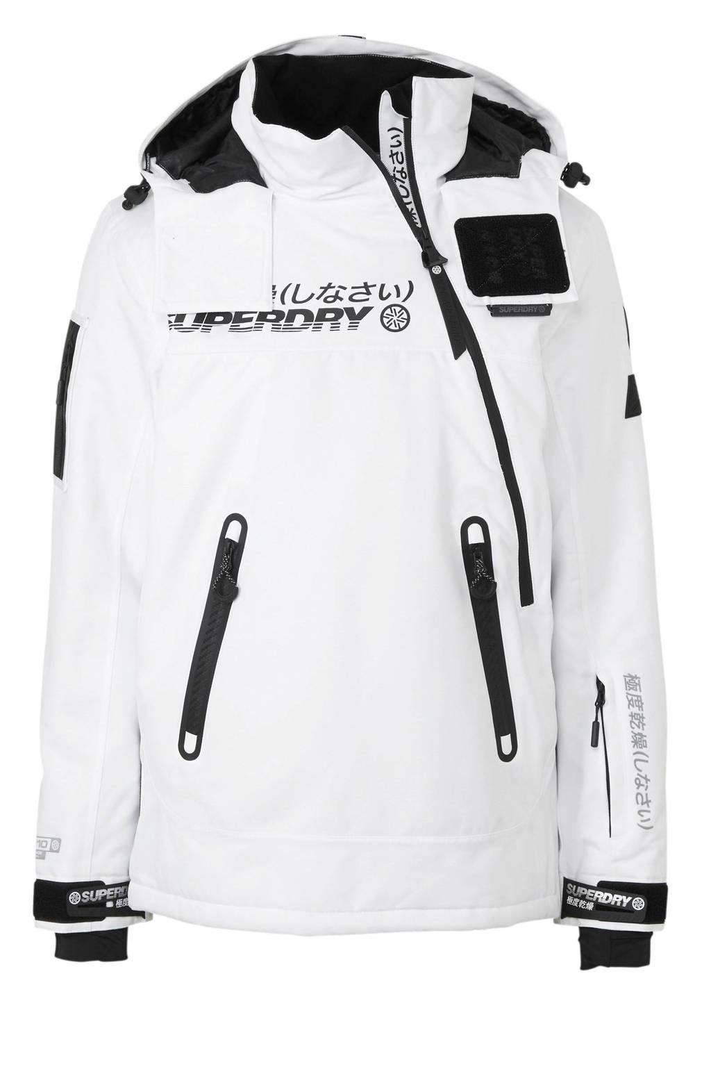 Superdry Sport ski-jack wit/zwart, Wit