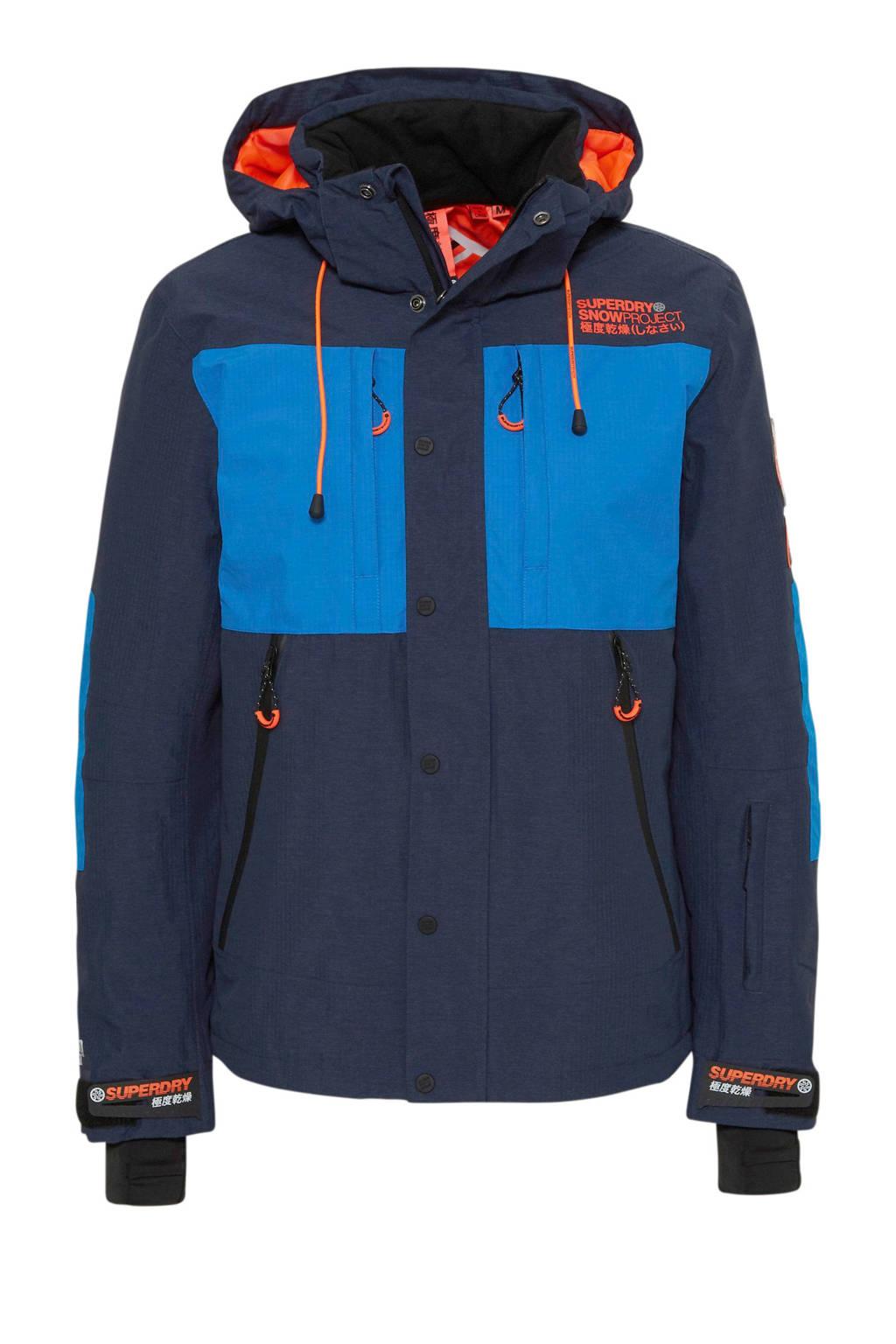 Superdry Sport ski-jack blauw, Blauw