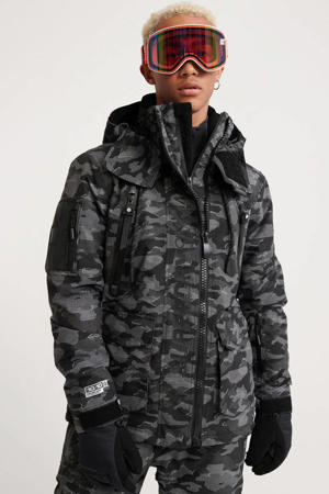 ski-jack camouflage print antraciet