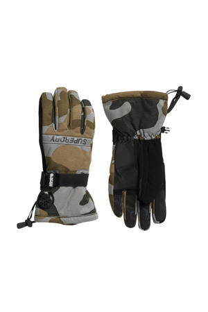 Sport ski handschoenen camouflage print