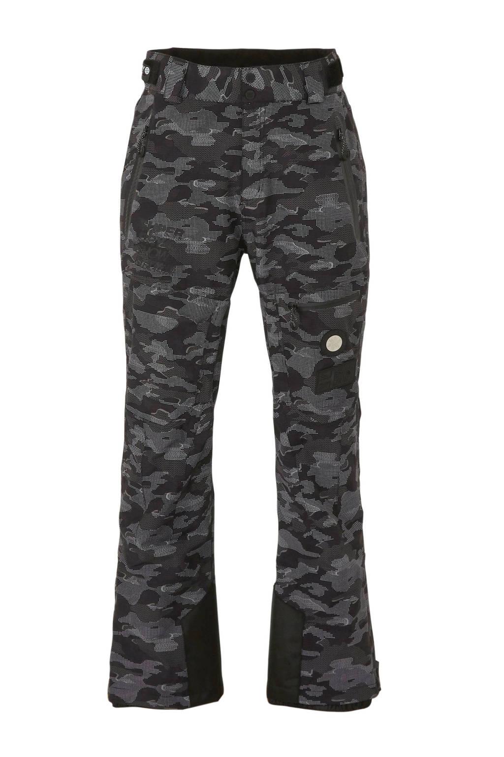 Superdry Sport skibroek grijs/zwart camouflage, Zwart