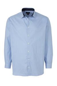 Selected Homme +Fit geruit regular fit overhemd blauw/wit, Blauw/wit