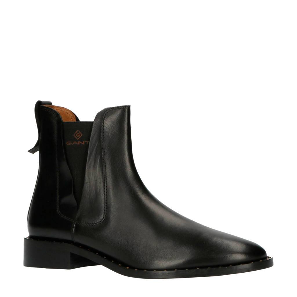 GANT Hampton  leren chelsea boots zwart, Zwart