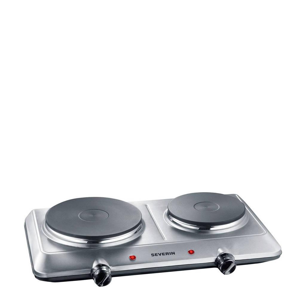 Severin DK 1014 elektrische kookplaat 45,7 cm, Zilver