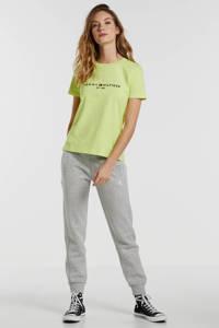 Tommy Hilfiger T-shirt met tekst geel, Geel