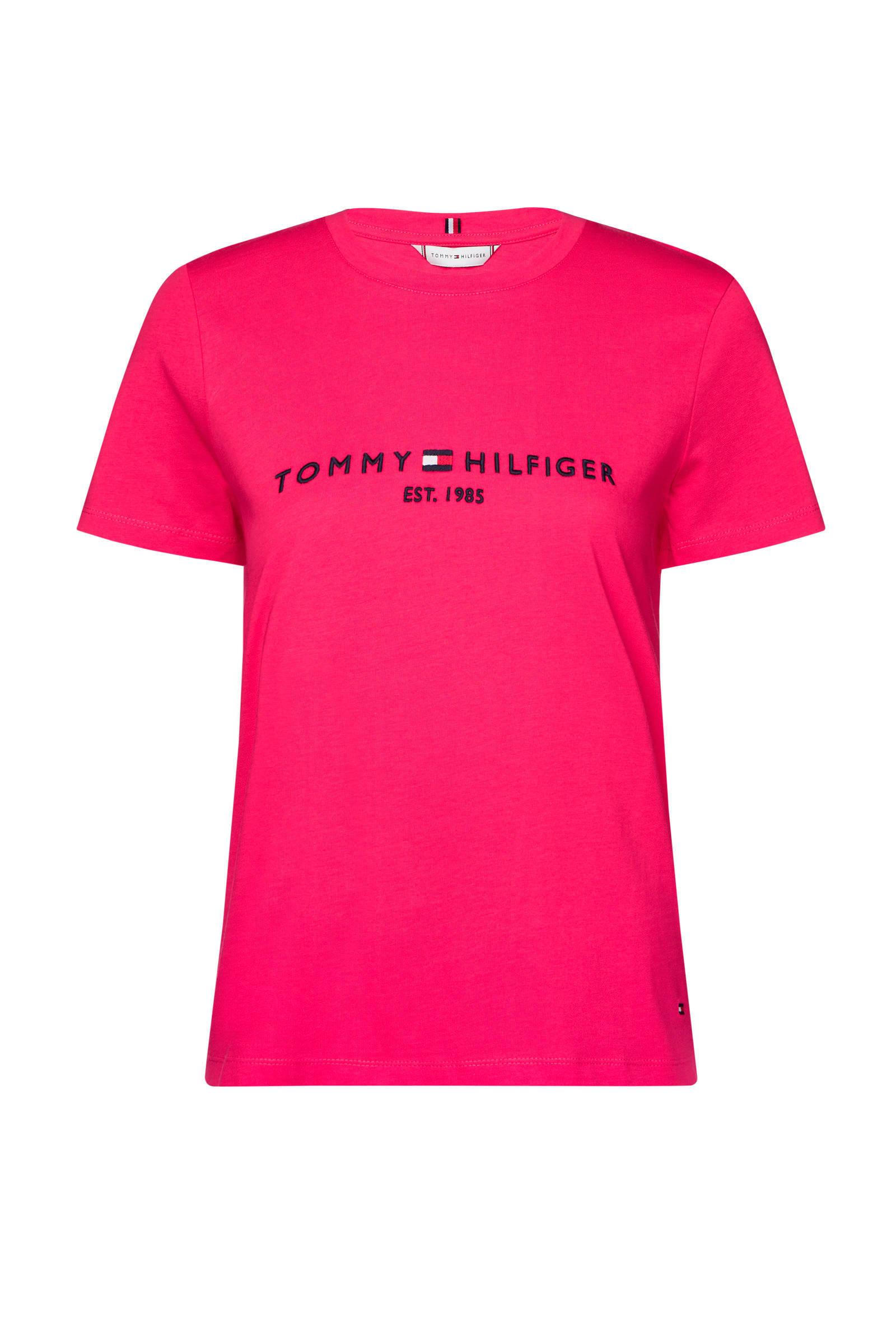 T shirt met logo roze