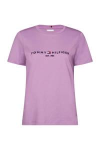 Tommy Hilfiger T-shirt met logo paars, Paars