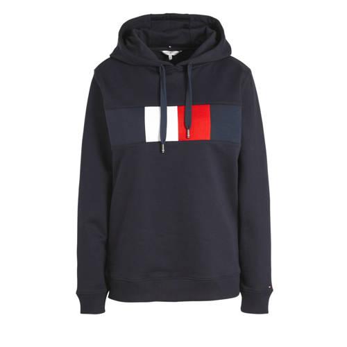 Tommy Hilfiger hoodie met logo donkerblauw