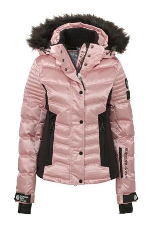 Sport ski-jack roze/zwart