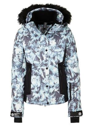 ski-jack blauw/grijs/wit