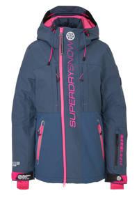 Superdry Sport ski-jack blauw/roze, Donkerblauw