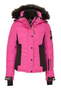 Superdry Sport ski-jack fuchsia/zwart, Roze