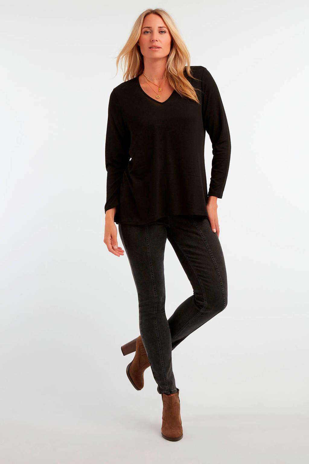 MS Mode longsleeve zwart, Zwart