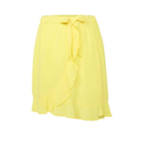 WE Fashion rok met ruches geel