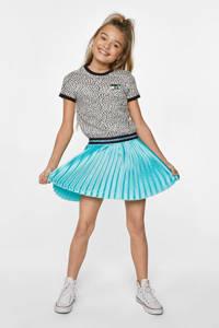 WE Fashion glanzende plissé rok lichtblauw, Lichtblauw