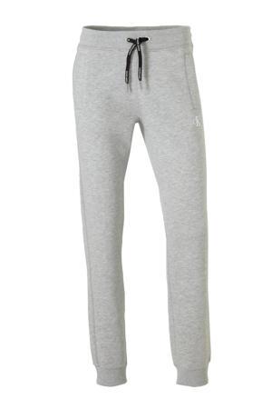 gemêleerde straight fit joggingbroek grijs
