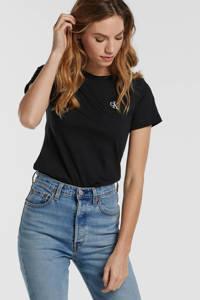 CALVIN KLEIN JEANS T-shirt met logo zwart, CK BLACK