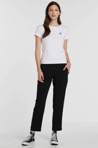 CALVIN KLEIN JEANS T-shirt met logo wit, Bright White