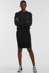CALVIN KLEIN JEANS crop top met logo zwart, Zwart