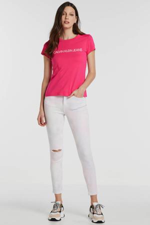 T-shirt van biologisch katoen fuchsia