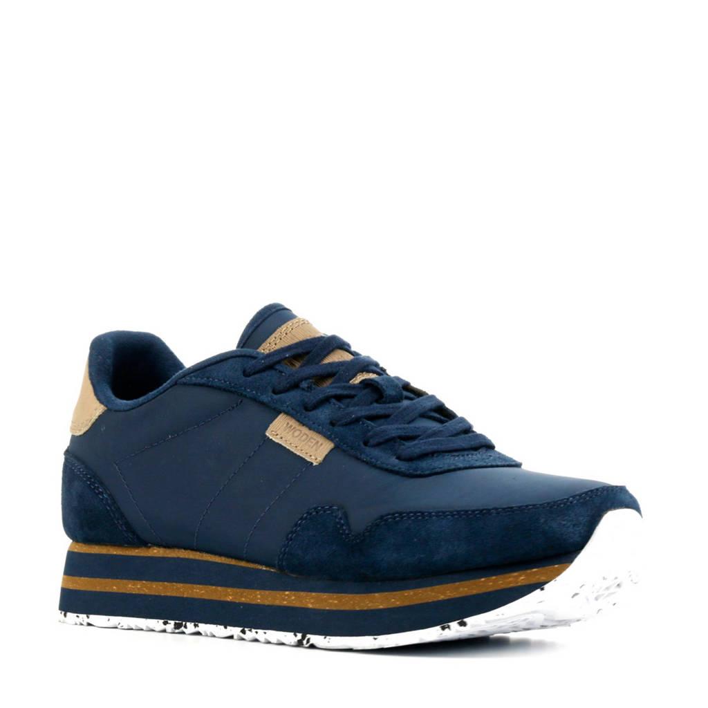 Woden Nora II Plateau  sneakers blauw, Blauw