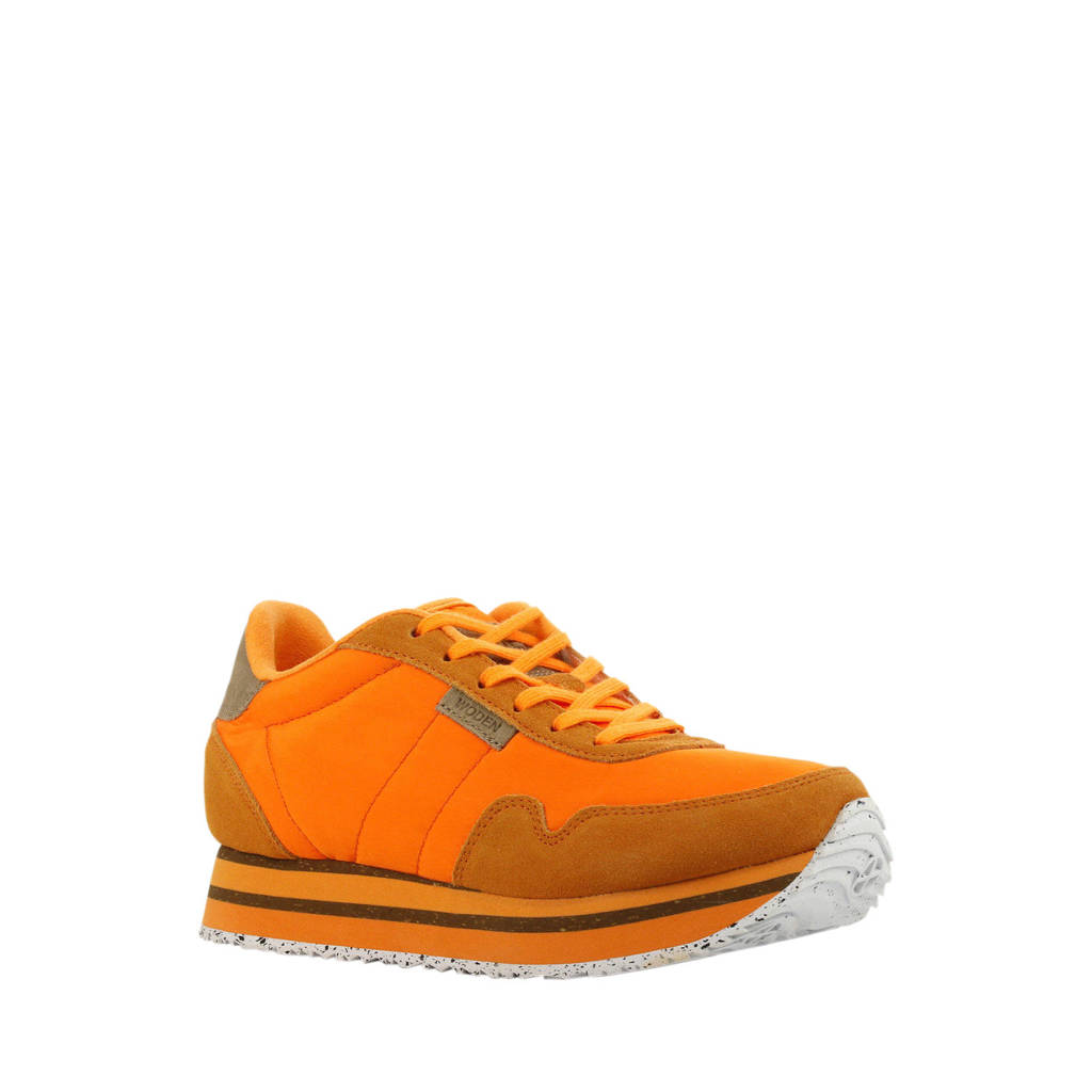 Woden Nora II Plateau  sneakers oranje, Oranje