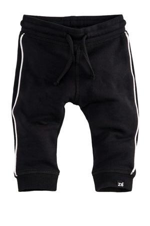baby joggingbroek Kaj met zijstreep zwart